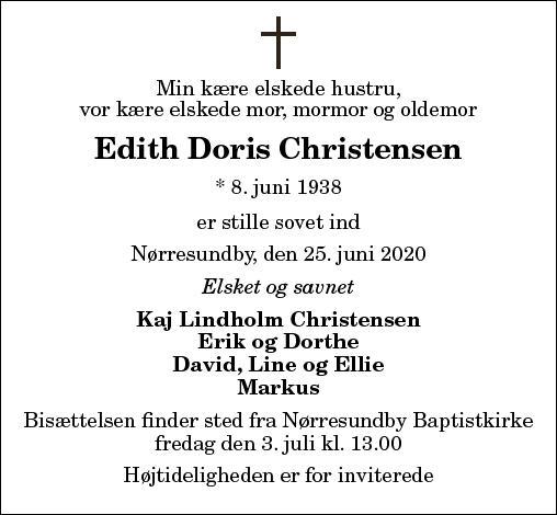 Edith Doris Christensen