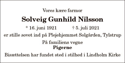 Solveig Gunhild Nilsson