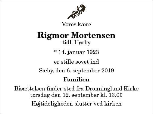 Rigmor Mortensen