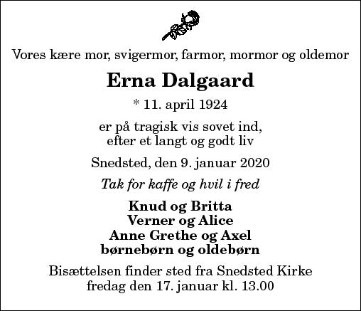 Erna Elfrida Dalgaard