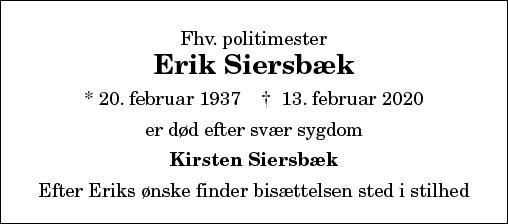 Erik Siersbæk
