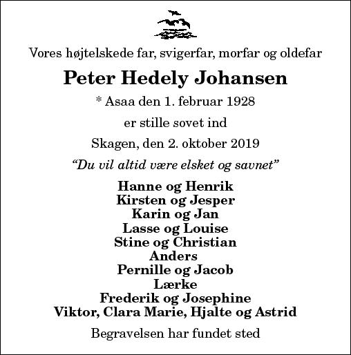 Peter Hedely Johansen