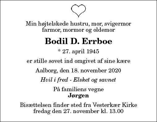Bodil D. Errboe