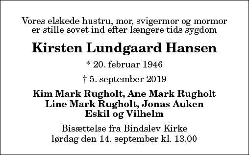 Kirsten Lundgaard Hansen