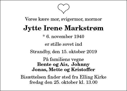 Jytte Irene Markstrøm