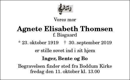 Agnete Elisabeth Thomsen
