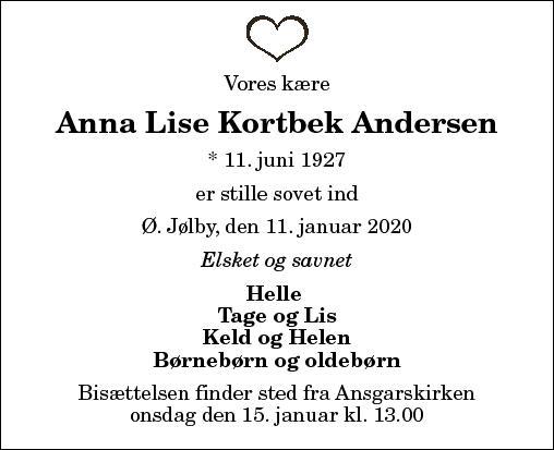 Anna Lise Kortbek Andersen