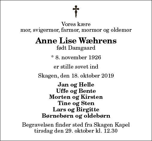 Anne Lise Wæhrens