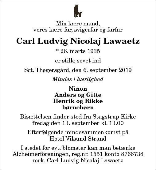 Carl Ludvig Nicolaj Lawaetz