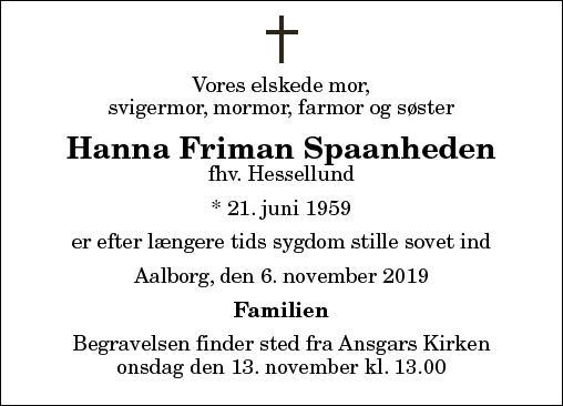 Hanna Friman Spaanheden