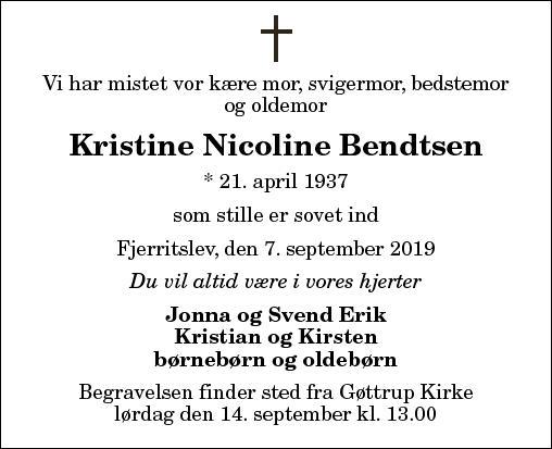 Kristine Nicoline Bendtsen