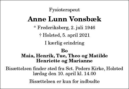 Anne Lunn Vonsbæk
