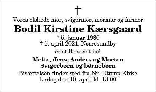 Bodil Kirstine Kærsgaard