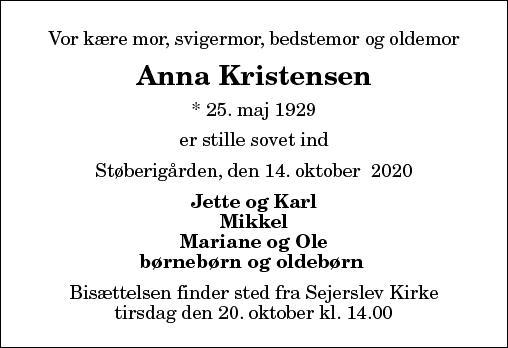 Anna Kristine Kristensen