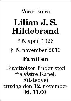 Lilian Julie Schøfding Hildebrand