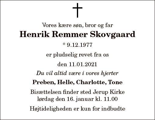 Henrik Remmer Skovgaard