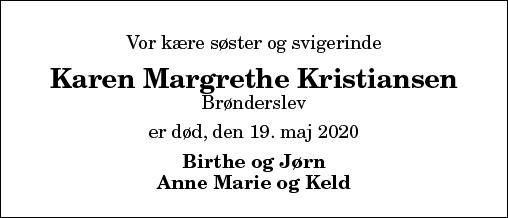 Karen Margrethe Kristiansen