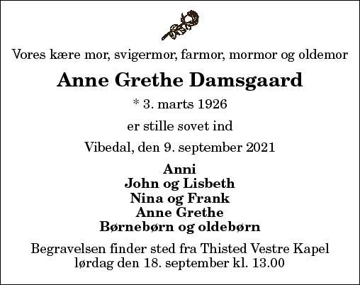 Anne Grethe Johanne Damsgaard