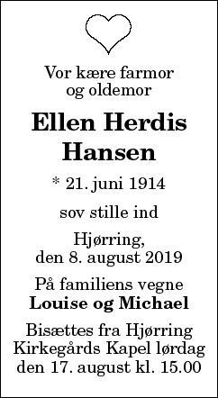 Ellen Herdis Hansen