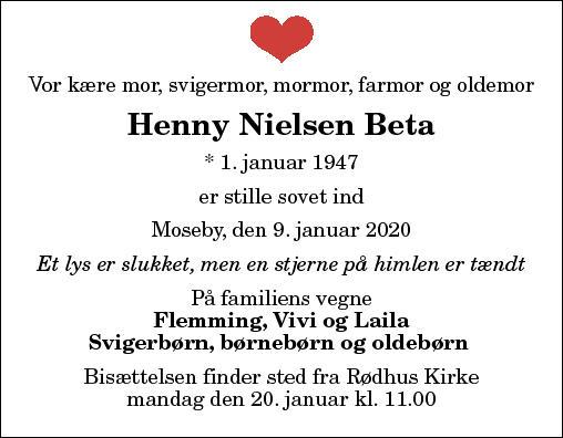 Henny Nielsen Beta