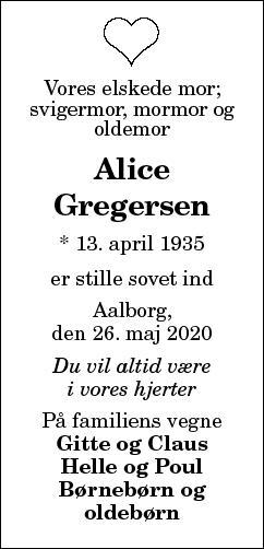 Alice Gregersen
