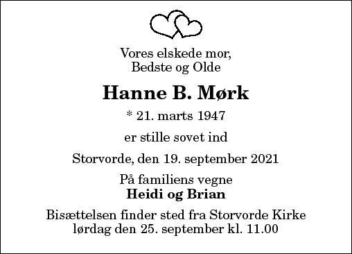 Hanne B. Mørk