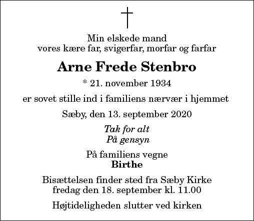 Arne Frede Stenbro