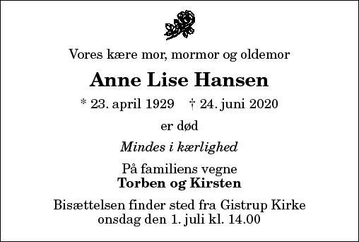 Anne Lise Hansen