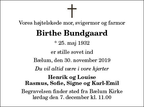 Birthe Bundgaard