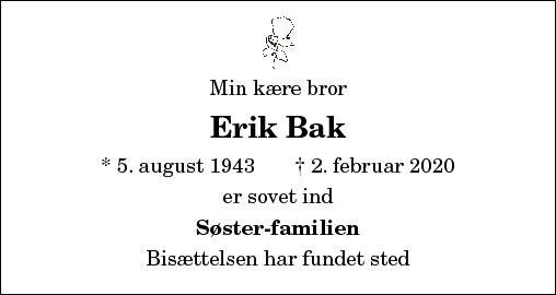 Erik Bak