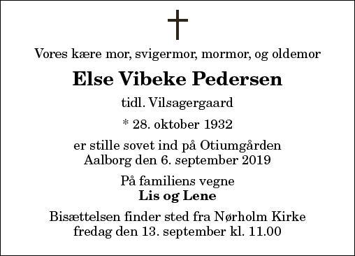 Else V. Pedersen