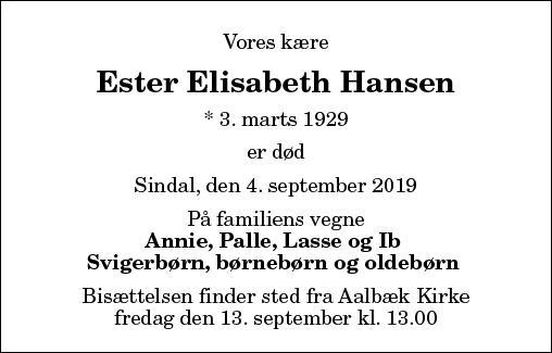 Ester Elisabeth Hansen