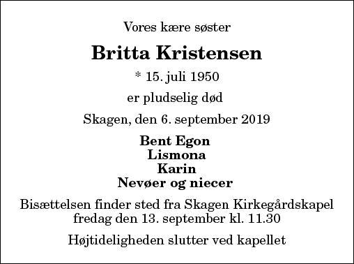Britta Kristensen
