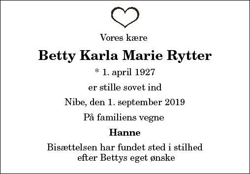 Betty Karla Marie Rytter