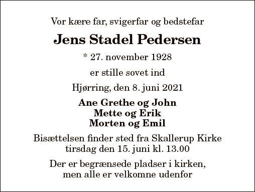 Jens Stadel Pedersen