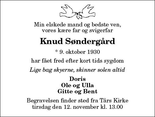 Knud Søndergård, Tårs