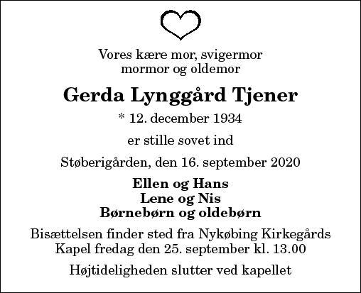 Gerda L. Tjener