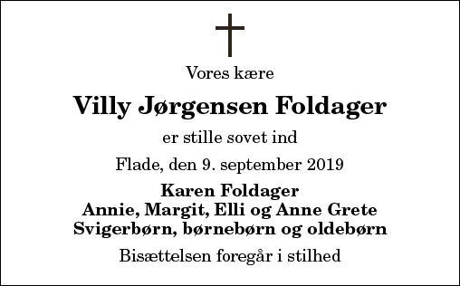 Villy Jørgensen Foldager